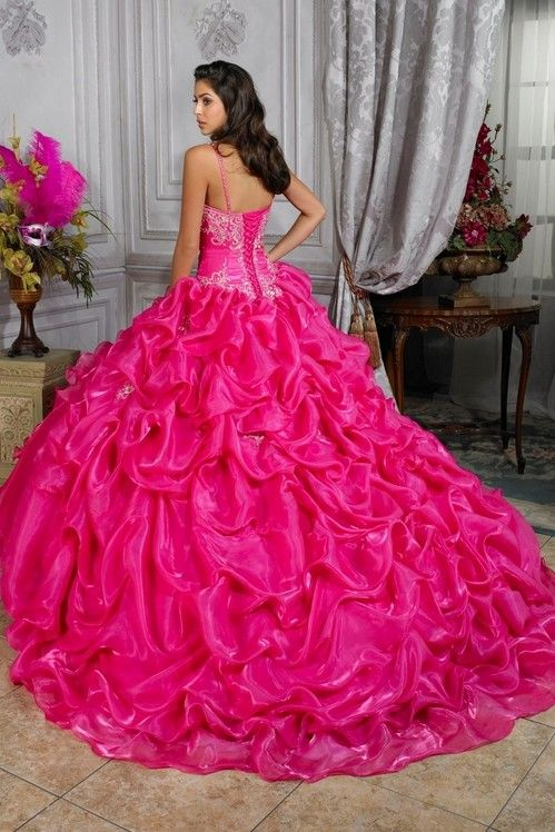 big ruffles quinceanera gown | plus size wedding dresses , vintage ...