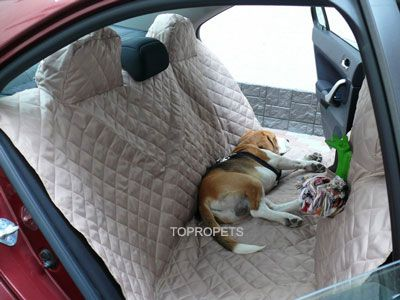 Keep Fido's hair off of your upholstery. Use this great car blanket ...