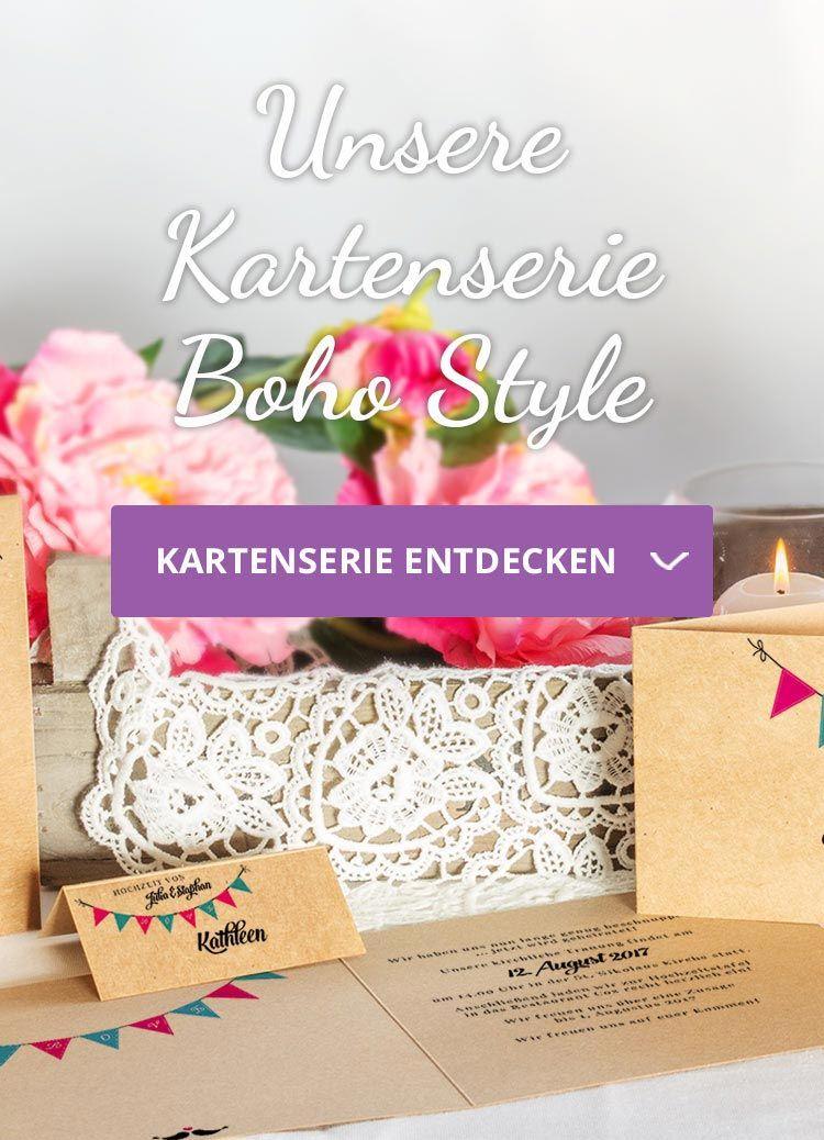 Hochzeitskarten Serie Boho Style Gleich Hier Bestellen