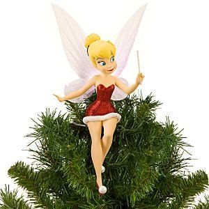 Tinkerbell Fairy Tink Disney inspired Christmas Tree Topper Ornament Tinker Bell