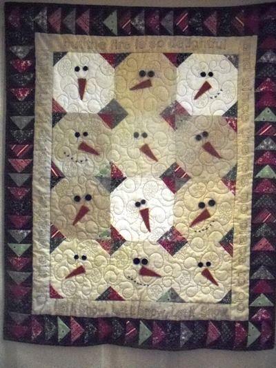 Snowball Quilt   Snowman Snowball quilt   Sewing/Quilts/Craft ... : snowman quilts - Adamdwight.com