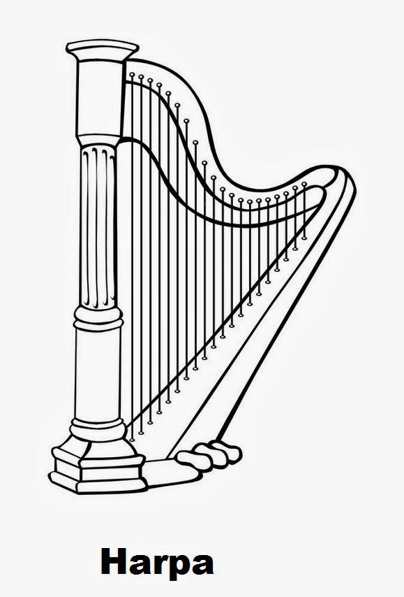 As Nossas Partilhas Instrumentos Musicais Desenhos Instrumentos