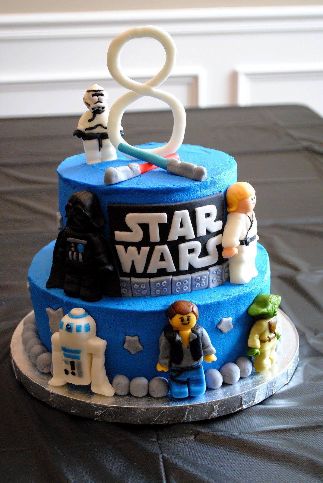 Star Wars Lego Birthday Cakes With Images Star Wars Birthday