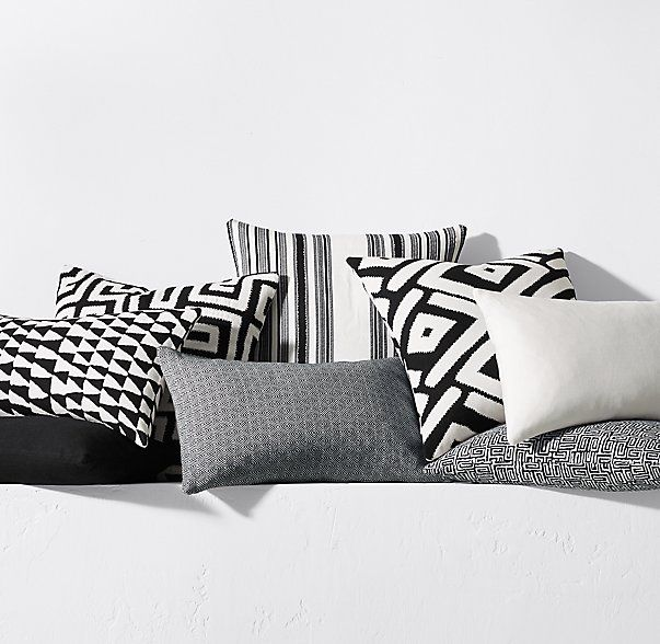 kerry joyce dayo pillow cover blackwhite - Garden Furniture Kerry