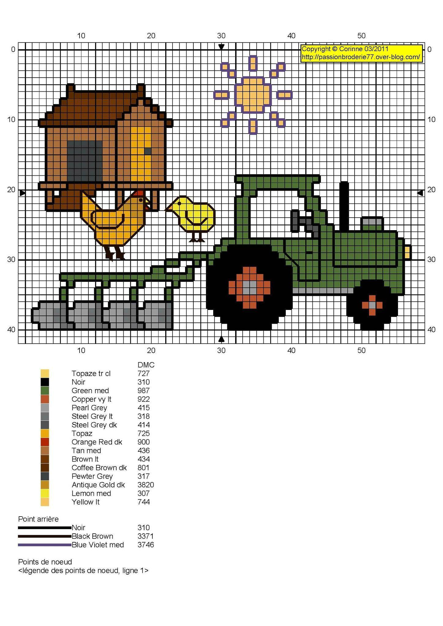 Tracteur | JD pattern | Pinterest | Ponto Cruz, Cruz and Bordado ...