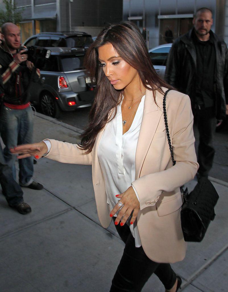 Kim Kardashian Red Nail Polish | Pinterest | Red nail polish, Red ...