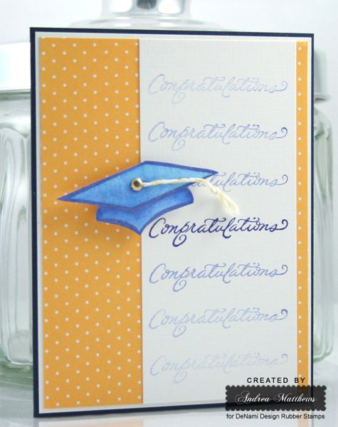 Graduation card created by Andrea Matthews using DeNami Design