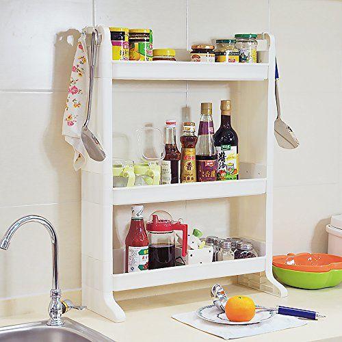 BYN Bathroom Floor Shelf/ Slim Storage Rack Standing ...