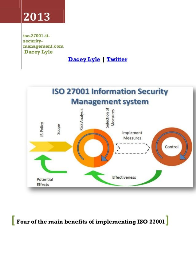 ISO 27001 Information security standard covering templates for - product risk assessment
