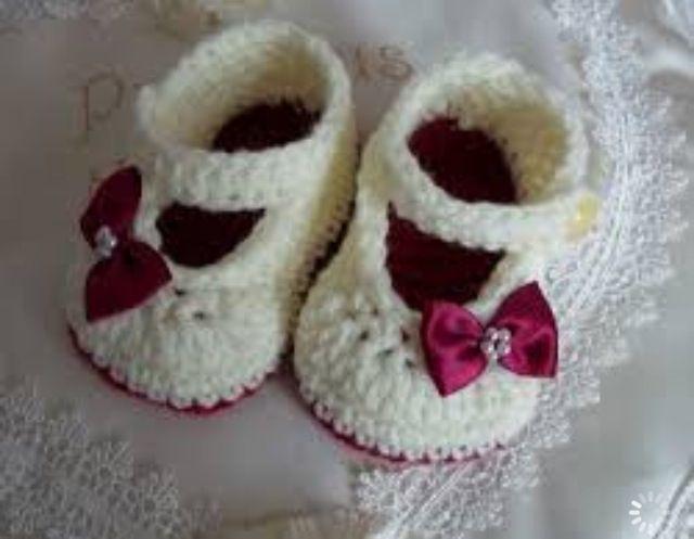 Zapatitos de bebe a crochet | Mi crochet | Pinterest | Bebe y Zapatos