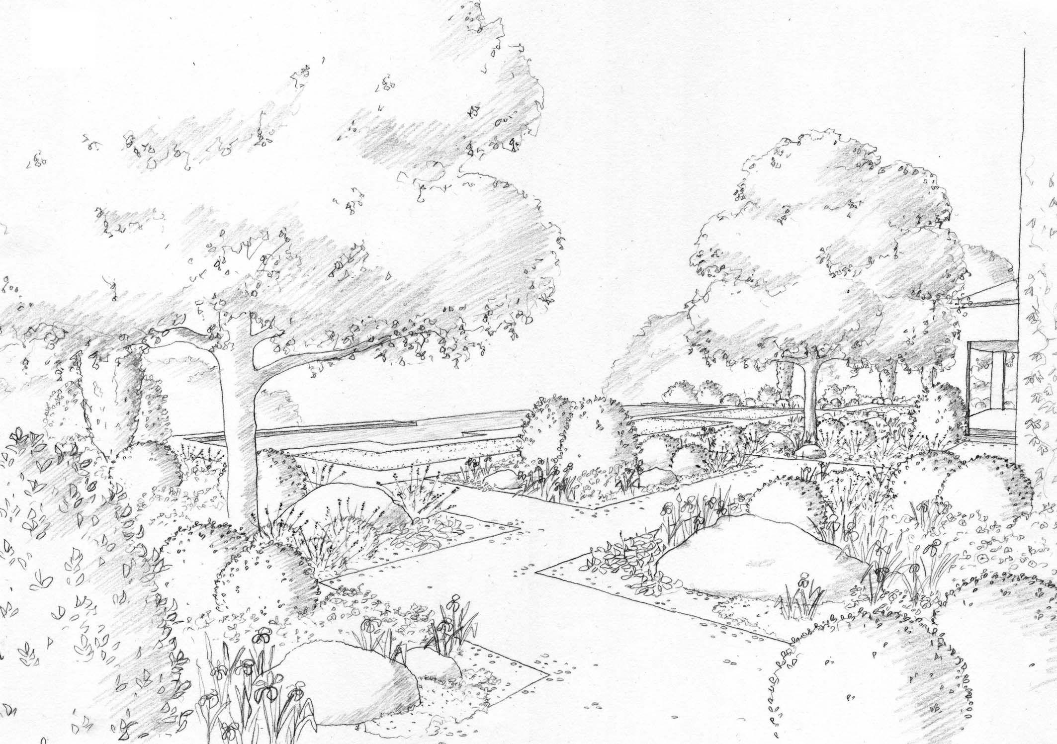 landscape drawings la visualisations landscape drawings coloring pages nature draw. Black Bedroom Furniture Sets. Home Design Ideas