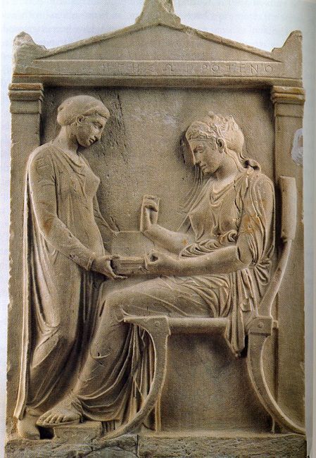 Grave stele of hegeso c 410 bce from athens greece ap for Graue stuhle