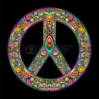 Peace Symbol Psychedelic Art Design