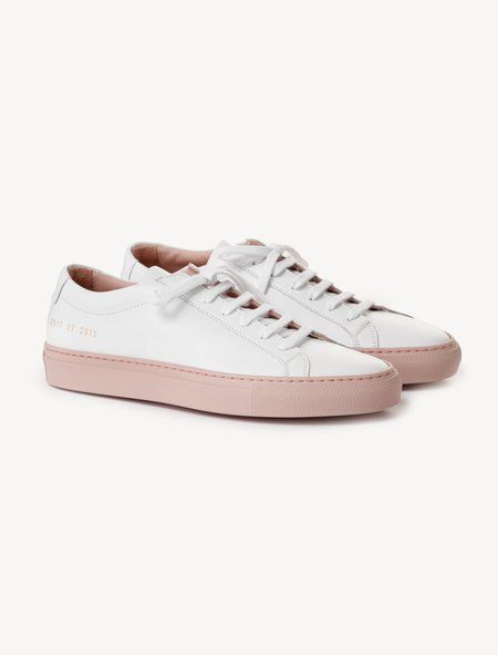 af28ee06f2c5 Woman by Common Projects Achilles - Low Coloured Sole White Blush ...