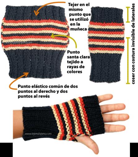 mitones tejiendoperu.com | Crochet guantes | Pinterest | Mitones ...