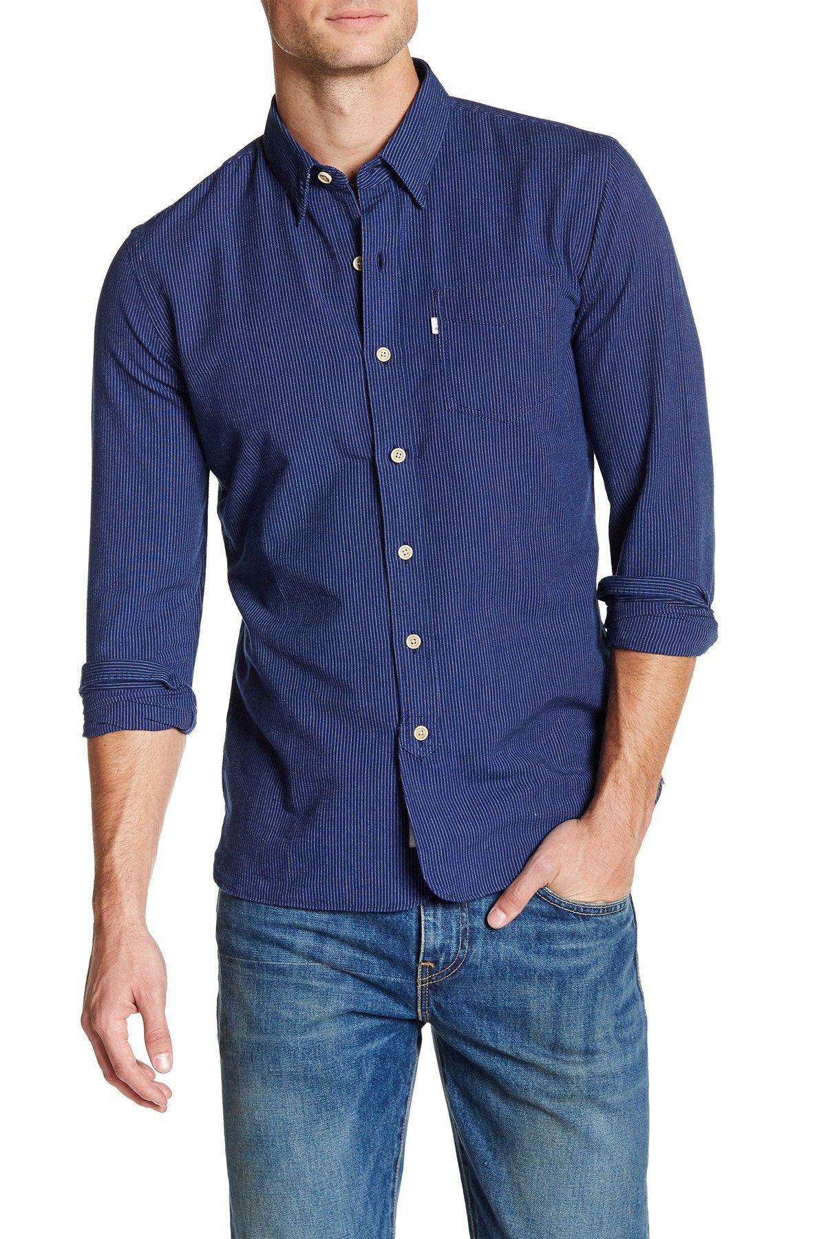 Selvedge Sunset Stripe Long Sleeve Shirt