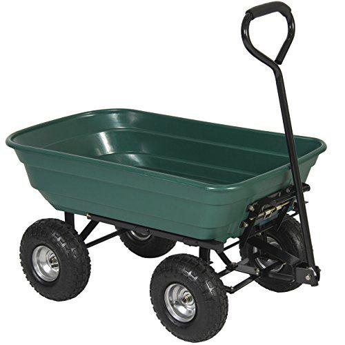 Best Choice Products 650LB Garden Dump Cart Wheelbarrel Wagon ...