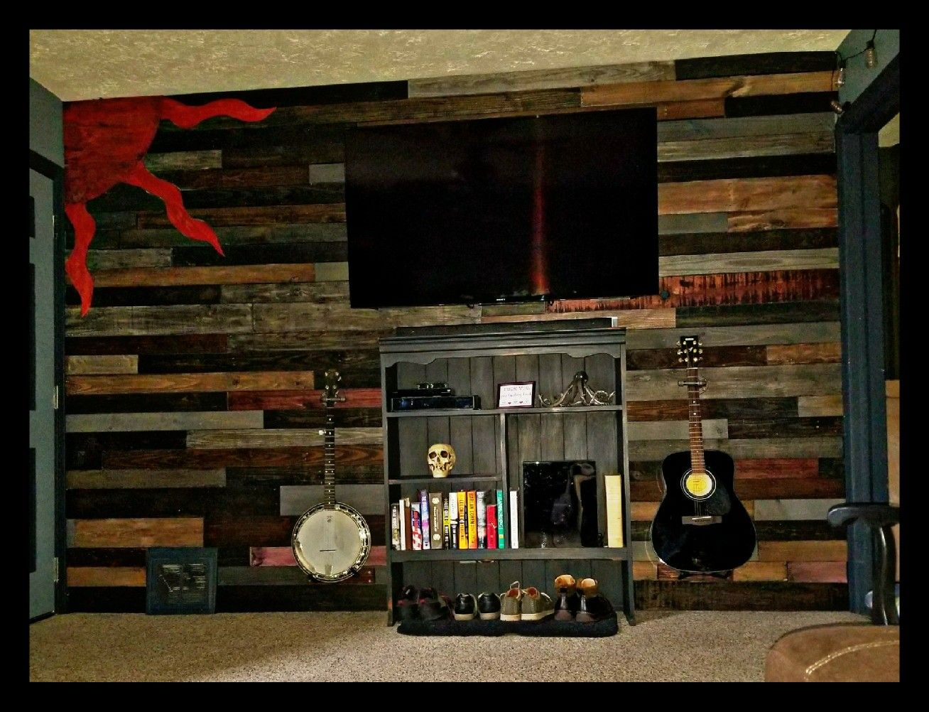 finally did my own pallet wall pallet wall decor wine on incredible kitchen designs that will make you need to repeat yours id=42436