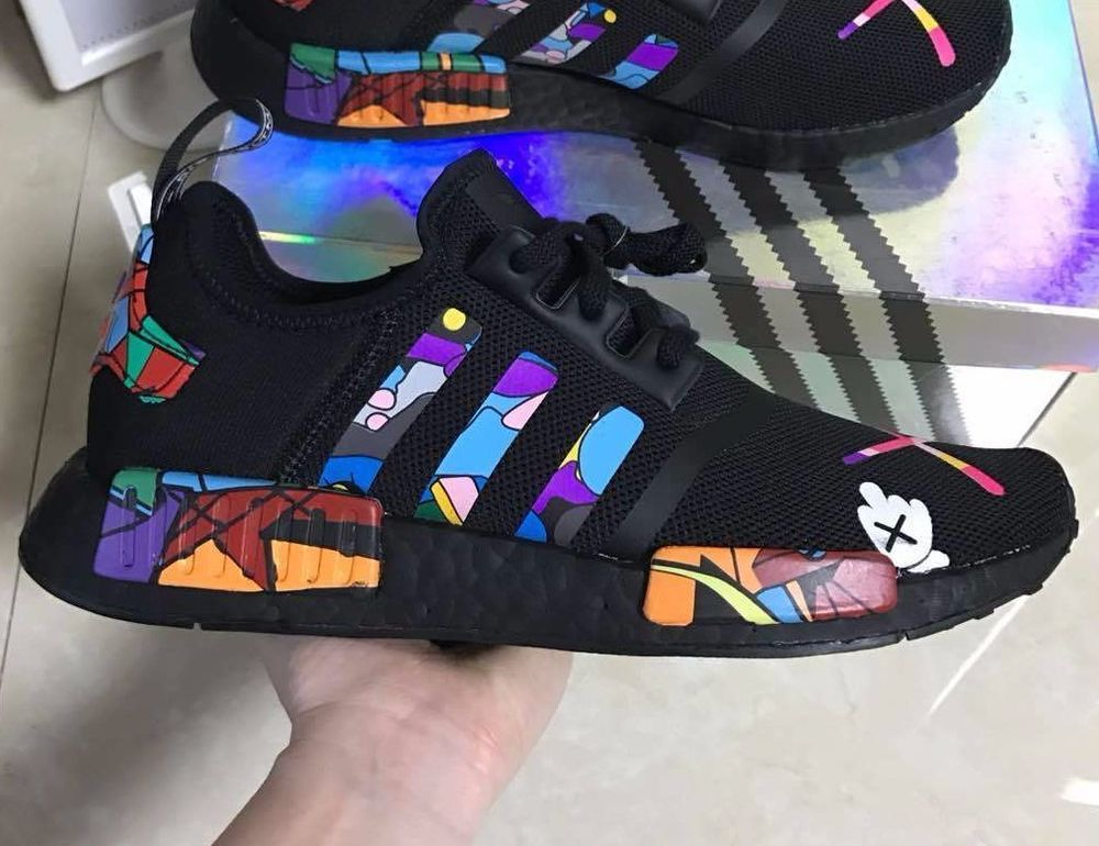 d02311e80 Adidas nmd triple black r1 custom trainers size 9.5uk adidas in 2019 ...