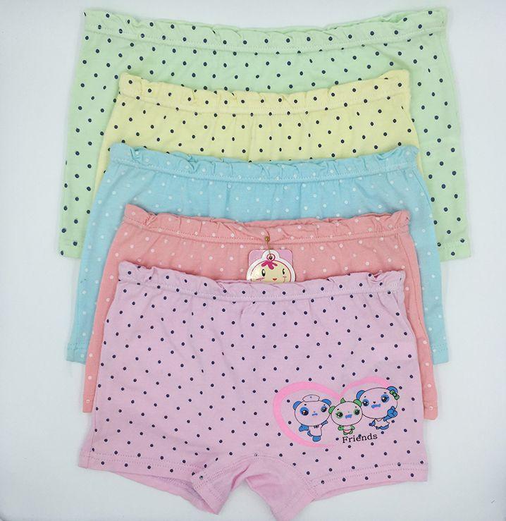 7f89cbb2b780 Baby Girls' Briefs Fashion Boxer Underwear Kids Cute Cartoon Panties  Children Soft Cotton
