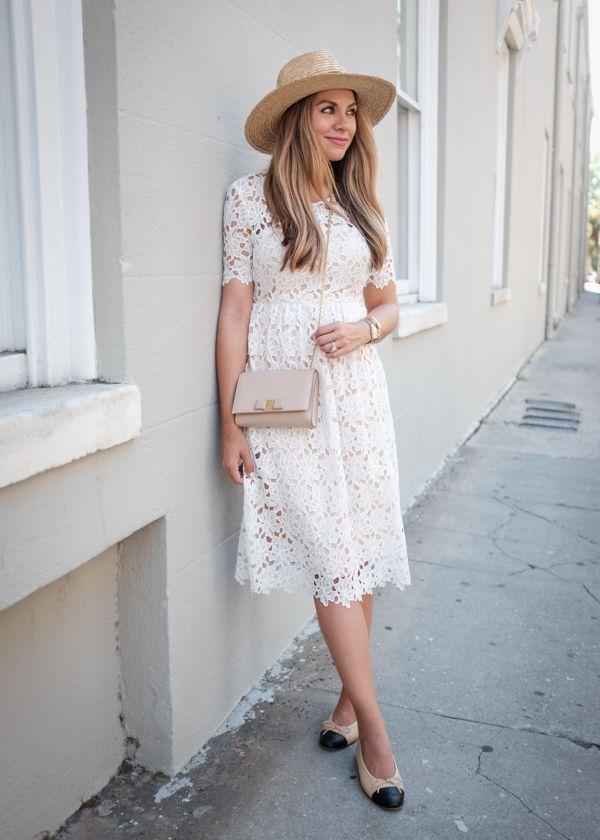 0a6d5c01a7 White Crochet Midi Dress   Top Picks for Fall 2016   Dresses ...