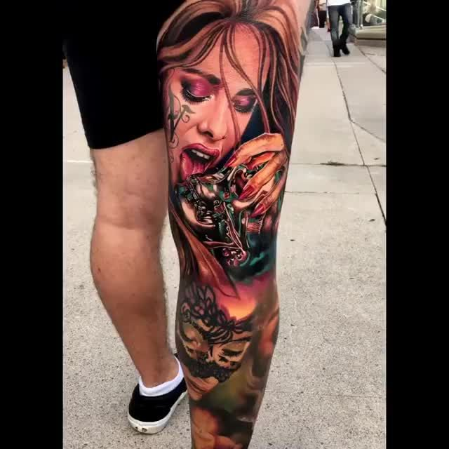 #realismtattoo  #colourtattoo  #skingiants  #tattooist  #tattoolove  #tattooed  #tattoosleeve  #tattoodesign  #tattoolover  #tattooworld  #tattoosofinstagram  #tattoolovers  #tattooleg  #inked  #tat  #tats #Woman #& ?? ??⚡? Woman & Skull Artist: @peter_tatter  ——————————————————————— ⚜️FOLLOW⚜️ @skingiants for daily tattoos! Sharing only the best tattoos Artists on instagram ——————————————————————