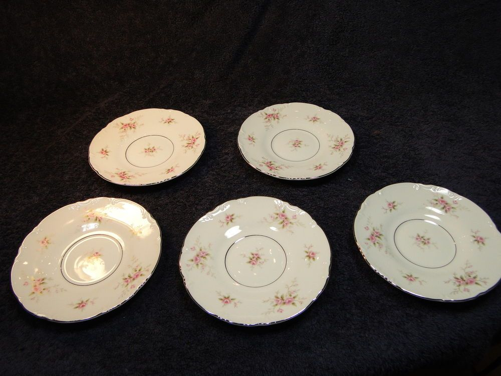 END OF THE MONTH CLEARANCE SALE! Mikasa Fine China Versailles 9344 Pink Roses Saucers - Set of 5 Excellent! #Mikasa & Mikasa Fine China Versailles 9344 Pink Roses Saucers - Set of 5 ...