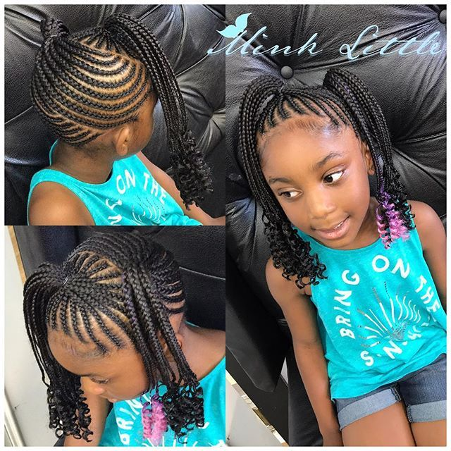 Atlanta Based Natural Hair Care Stylist Click Link Below To Start Your Hair Growth Journey With Her All Natura Kids Hairstyles Braids For Kids Kid Braid Styles