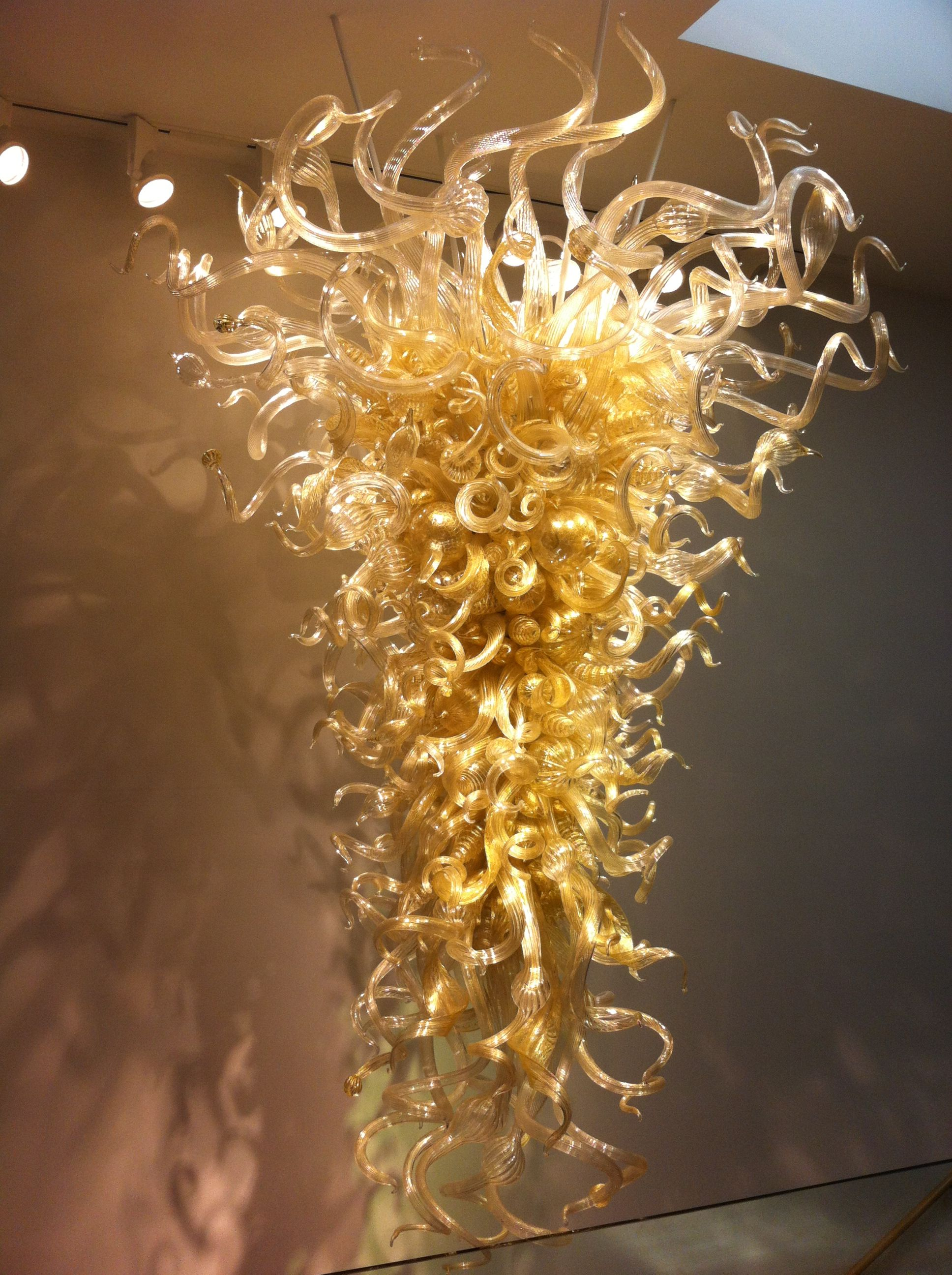 Enlightenment By Dale Chihuly Glass Chandelier Hanging In The Mingei Museum
