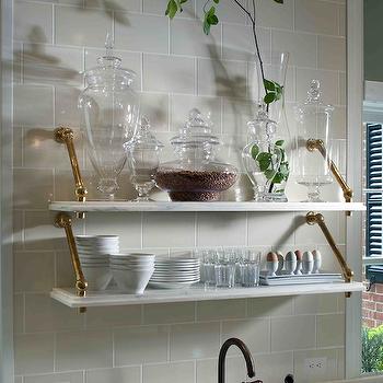 Marble Shelves Kitchen