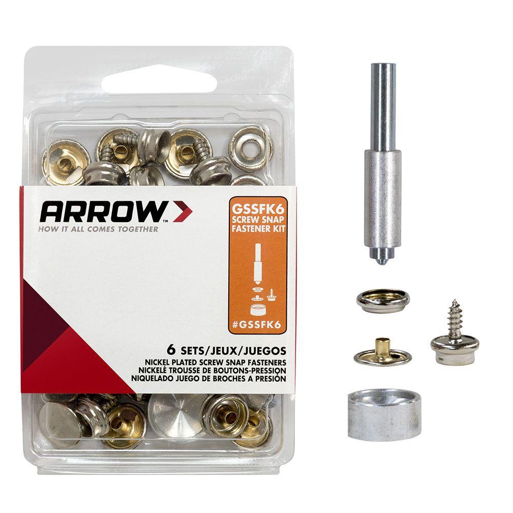 GSSFK6 Screw Snap Fastener Kit | Arrow's Grommet Tools