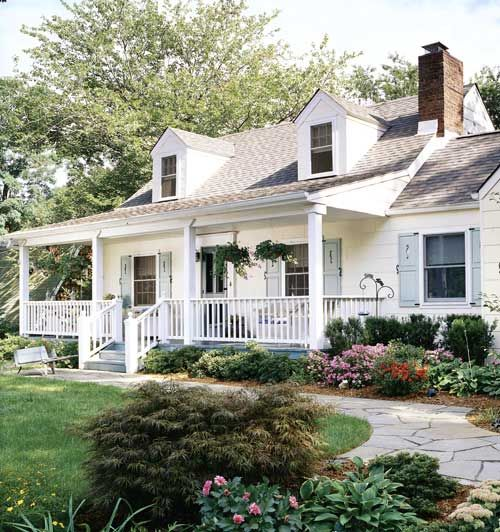 Meredith Cape Cod House Exterior House Front Porch Exterior Remodel