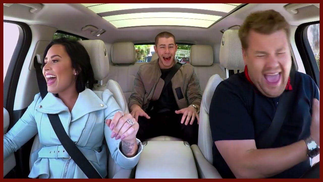 Demi Lovato And Nick Jonas On Carpool Karaoke With James Corden Demi Lovato Nick Jonas Dating Nick Jonas