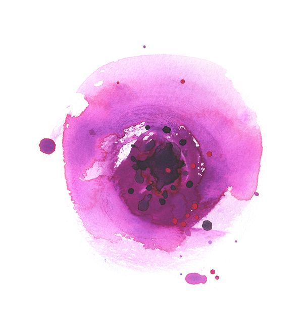 abstract flower watercolour illustration Pernille Hannibal on Behance
