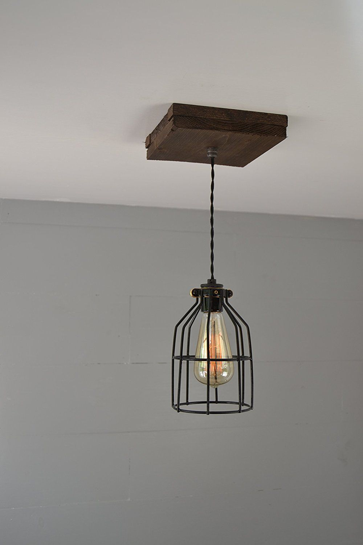 Single Wood Pendant Light - - Amazon.com