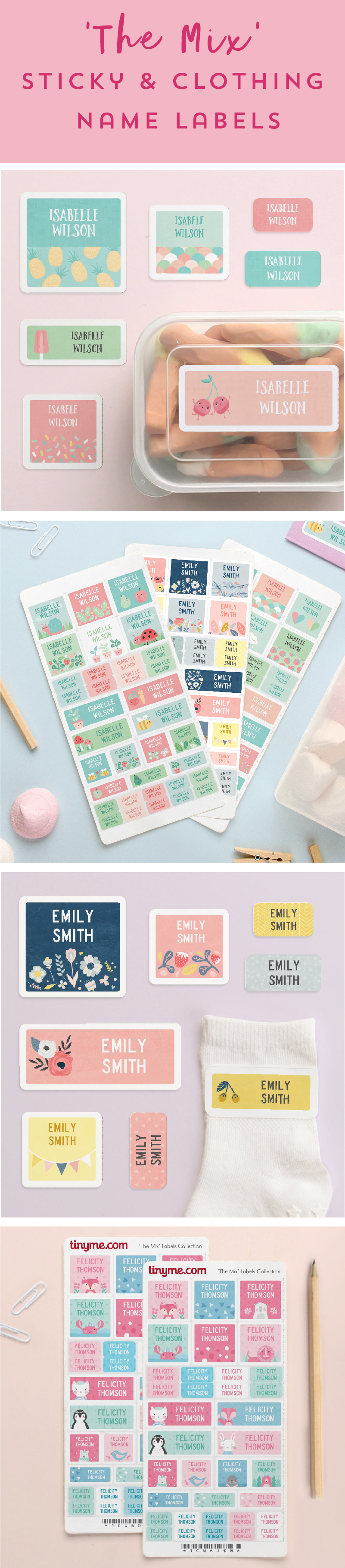 35 Sticky or Clothing Name Labels from $10! The Best Kid's