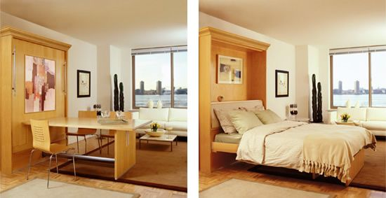 Guest Bed Dining Table Combo Studio Apartment Furniture Studio Apartment Bed Small Spaces Murphy bed with dining table