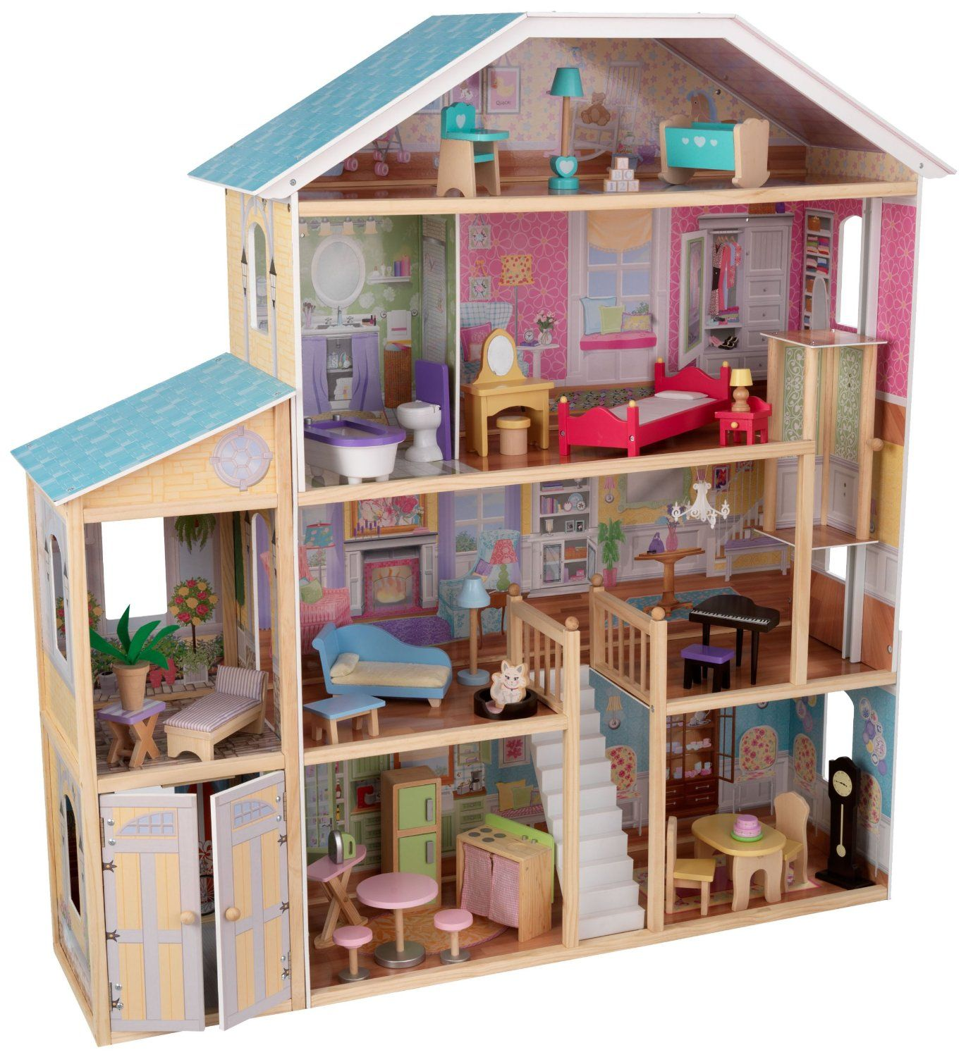 majestic create your own bedroom games. KidKraft Majestic Mansion Dollhouse with Furniture  Toys Games May 2014 Made from Cardboard Boxes Toy toys and Barbie house