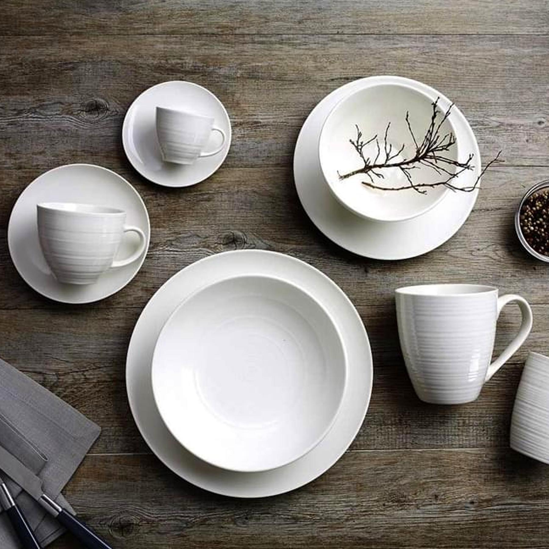 Ritzenhoff Geschirr Set Weiss Geschirrset Porzellan Schlicht