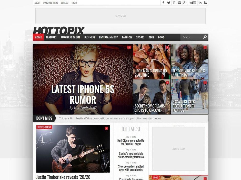 75 Best Adsense WordPress Themes 2014 Magazine Theme WordPress Blog Themes WordPress WordPress Theme