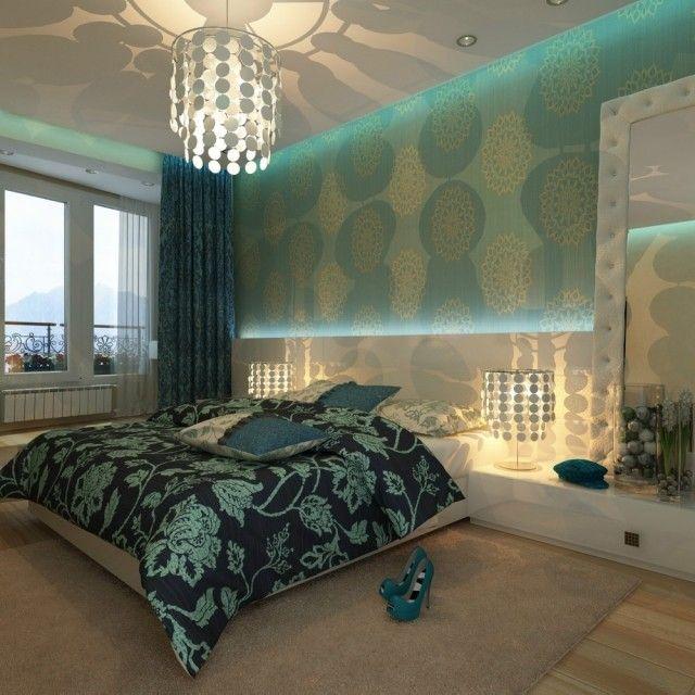 Modernes Schlafzimmer Wand Tapete Mit Blumenmuster In