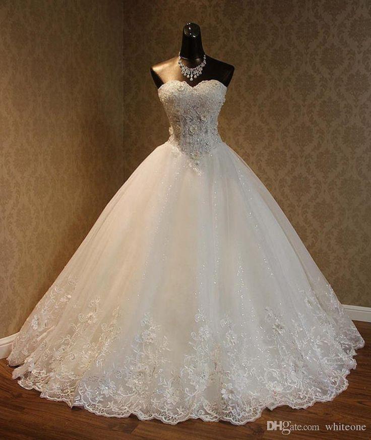 Brautkleider Spitze Appliques Prinzessin Vintage Garden Country Wedding Bride #spitzeapplique