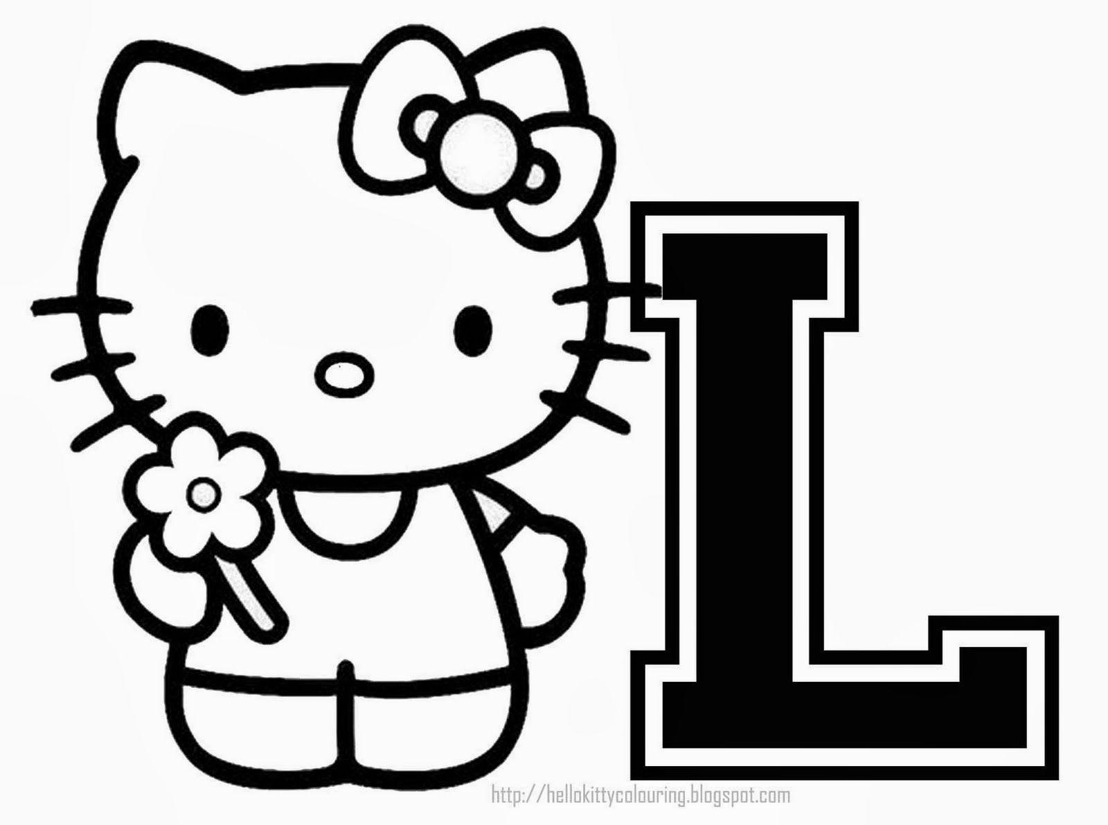 Hello Kitty Alphabet for Coloring. Alfabeto de Hello Kitty para ...
