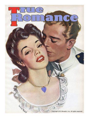 Looks like Rose Mcgowan! True Romances Vintage Magazine - May 1945 Painting Giclee Print by Darius Mede at Art.com #rosemcgowan