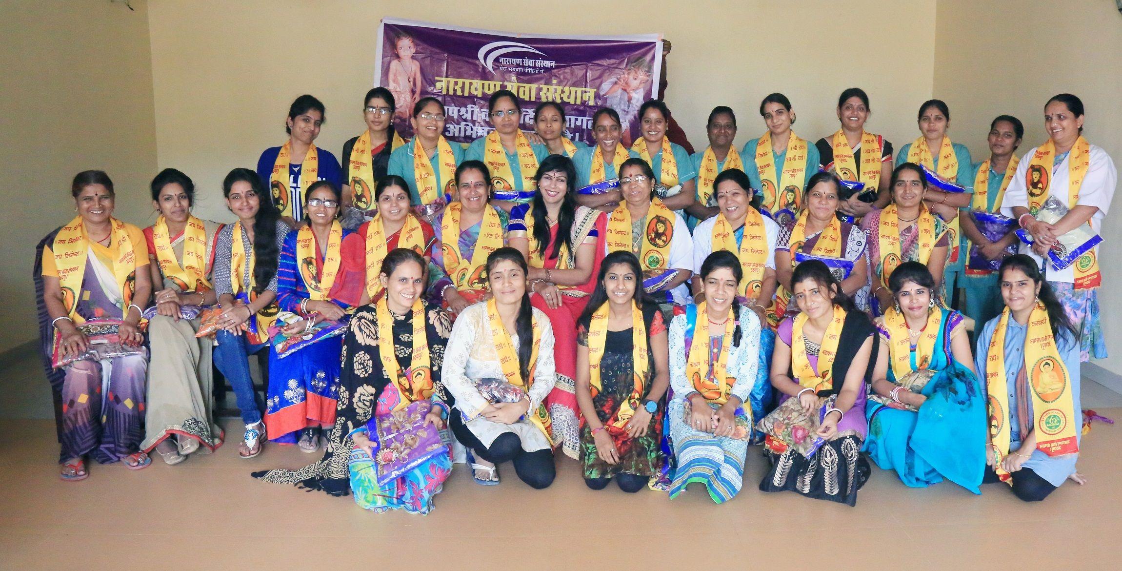 Hariyali Teej was celebrated in Narayan Seva Sansthan NGO