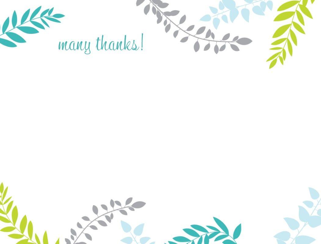 Printable Thank You Card Template Harmonia Gift