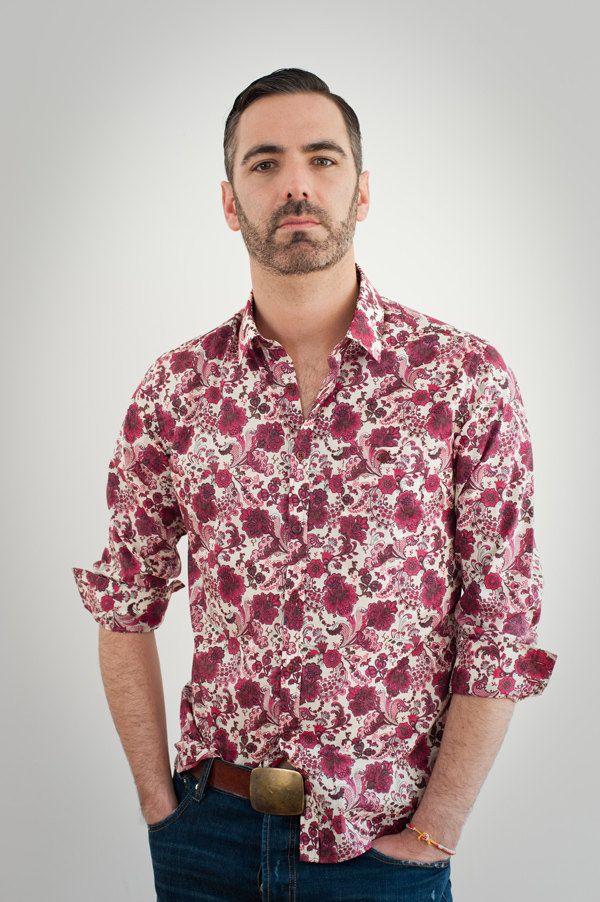16abe6d756b Ltd Edition Red Floral Liberty Print Mens Shirt. £50.00