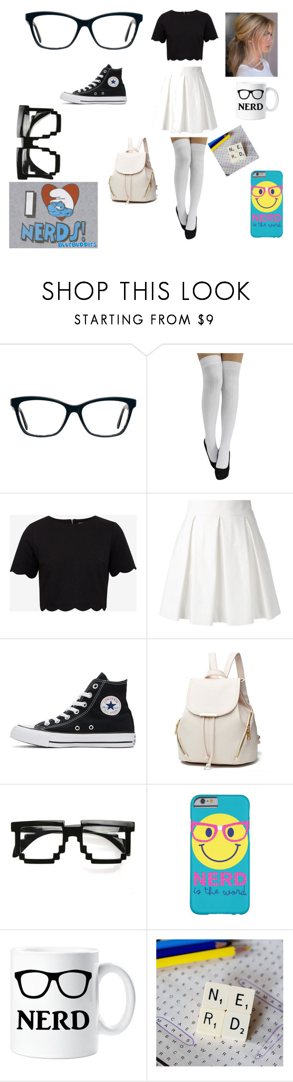 """""""nerdie"""" by ilovee922 on Polyvore featuring interior, interiors, interior design, home, home decor, interior decorating, Ted Baker, Boutique Moschino, Converse and ZeroUV"""