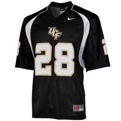 new style e3d09 84c66 Nike UCF Knights #28 Replica Football Jersey - Black ...