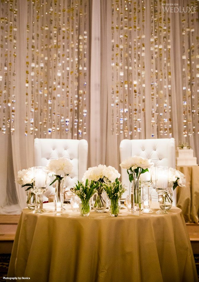 Michael Coombs Entertainment Decor Head table wedding